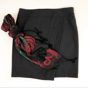 ANN TAYLOR wool asymmetric pencil skirt | size 10